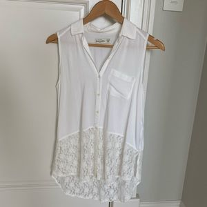 Abercrombie & Fitch white sleeveless blouse